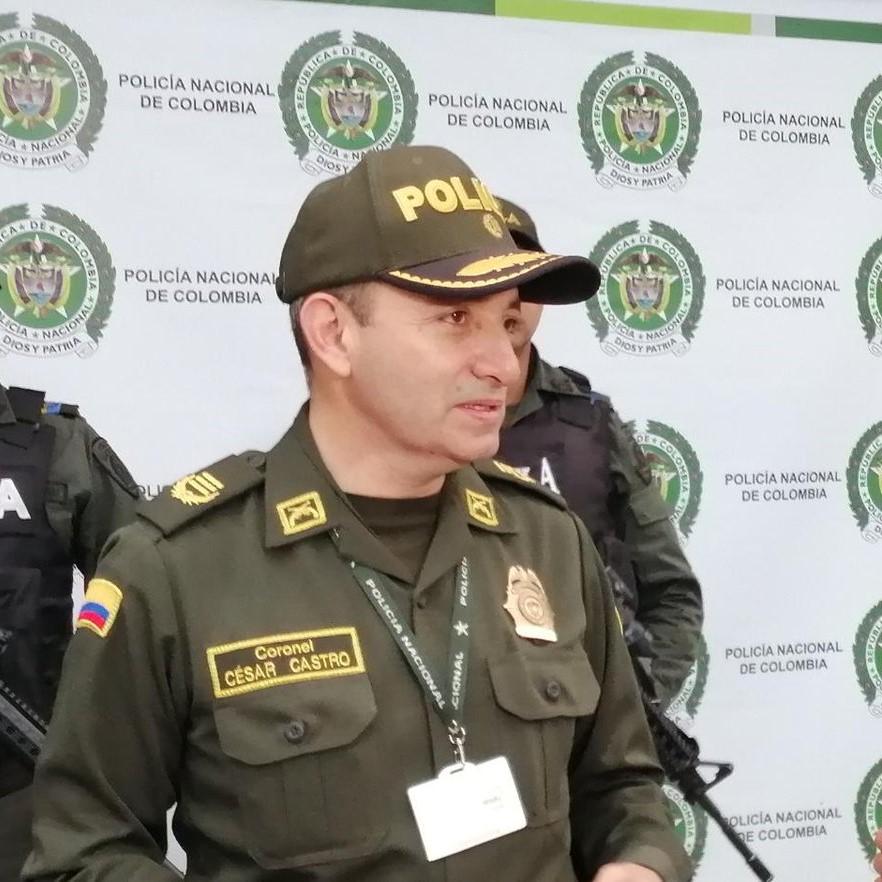 Coronel César Ovidio Castro, comandante de Policía de Cundinamarca.